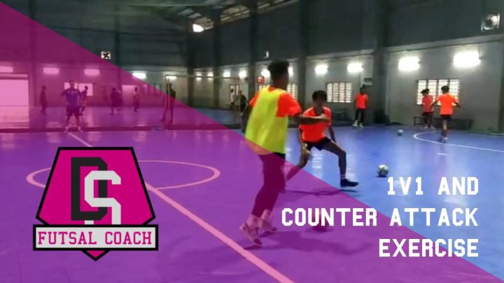 1v1 and counter attack – Futsal training