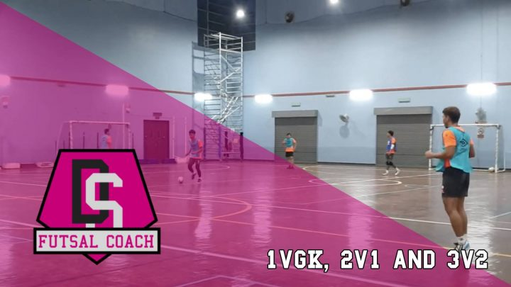 2v1 and 3v2 Futsal training